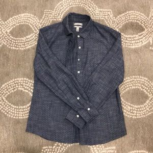 J. Crew polka dot button down